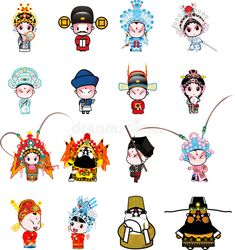 A cartoon of many beijing opera characters ,You can find Opera and more on our website. A cartoon of many beijing opera characters , Chinese Painting, Chinese Art, Chinese Opera Mask, Character Art, Character Design, Chinese Dolls, Chinese Cartoon, Biscuit, Chinese Culture