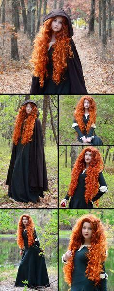 Brave cosplay | disney pixar movie | Merida red head | ginger curls