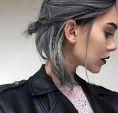 short dark gray
