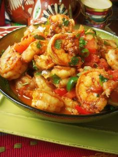Camarones a la Mexicana (Mexican-style Shrimp) HispanicKitchen.com Mexican food, #mexican #recipe