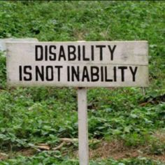 Disability is NOT inability. A sign I came across when I was at a rehabilitation/ school for kids with disabilities in Uganda, africa. disability awareness, children with disabilities Disability Quotes, Disability Awareness, Developmental Disabilities, Learning Disabilities, Chronic Illness, Chronic Pain, This Is Your Life, Cerebral Palsy, Down Syndrome