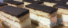 Recept Medové řezy s kokosovou náplní Czech Recipes, Ethnic Recipes, Nutella, Tiramisu, Cake Recipes, Cheesecake, Health Fitness, Treats, Candy