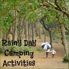 Struggling to come up with rainy day camping activities to make your family camping experience more fun? Kids and adults will love these recommendations!