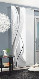 Home Living Ideas Sliding Curtain Decor Fabric Digital Print Carlisle 1 piece 245 x 60 cm G buy at Hood.de Home Living Ideas Sliding Curtain Decor Fabric Digital Print Carlisle 1 piece 245 x 60 … buy at H Sliding Curtains, Panel Curtains, Carlisle, Modern Apartment Decor, Frosted Glass Door, Room Partition Designs, Living Room Color Schemes, Home Living, Fabric Decor