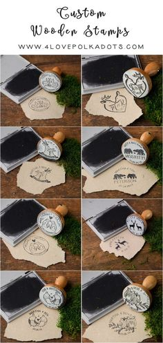 Rustic custom country wedding wooden stamps #rusticwedding #countrywedding #dpf #weddingideas