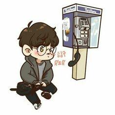 Memories of Alhambra ♥️ Park Chanyeol Exo, Kpop Exo, Baekhyun, Exo Cartoon, Cute Cartoon, Exo Anime, Anime Chibi, Exo Fan Art, Cute Chibi