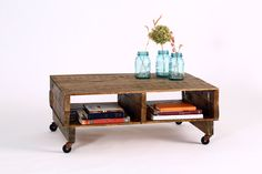 Pallet Coffee Table- SALE. $275.00, via Etsy.