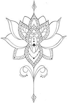 Mandala Tattoo Design, Tattoo Design Drawings, Mandala Drawing, Tattoo Designs, Lotus Tattoo, Tattoo You, Big Tattoo, Back Tattoos, Forearm Tattoos