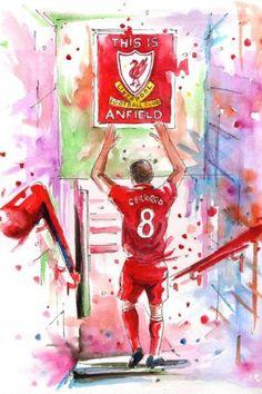 This Is Anfield! 💓💓 Steven Gerrard The Legend Steven Gerrard Liverpool, Liverpool Captain, Liverpool Legends, Liverpool Players, Liverpool Football Club, Liverpool Fc Wallpaper, Liverpool Wallpapers, Lfc Wallpaper, Juergen Klopp