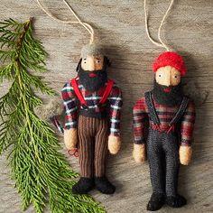 Lumberjack Ornaments #westelm