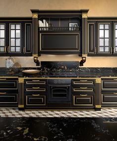 Luxury Kitchen Design, Kitchen Room Design, Luxury Kitchens, Home Decor Kitchen, Interior Design Kitchen, Kitchen Sets, Tuscan Kitchens, Diy Kitchen, Classical Kitchen