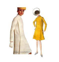 60s VOGUE DRESS PATTERN Pierre Cardin Designer Futuristic Mod Dress Vogue 1694 Paris Original Womens Sewing Patterns Bust 36 UNCuT +Label by DesignRewindFashions on Etsy