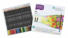 Derwent academy colouring pencils tin set of 24 blendable artists colours: Amazon.co.uk: Office Products