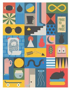 cool illustration and color selection, by Jonathan Calugi, via Behance