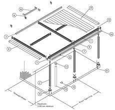 how to draw an attached veranda roof plan