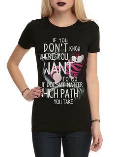 Disney Alice In Wonderland Cheshire Cat Path Girls T-Shirt,