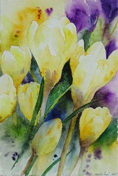 Es wird bunt (c) Ein Krokusaquarell von Hanka Koebsch Watercolor Flowers, Watercolor Art, Image Categories, Baltic Sea, Flower Art, Art Flowers, Bunt, Poster, Spring