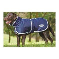 Weatherbeeta Parka with Belly Wrap 1200 Denier Dog Blanket Navy/Gray/White - Item # 28975