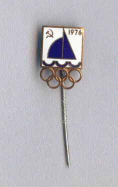 Rare Official Russian USSR Olympic badge pin for SAILING  Montreal 1976