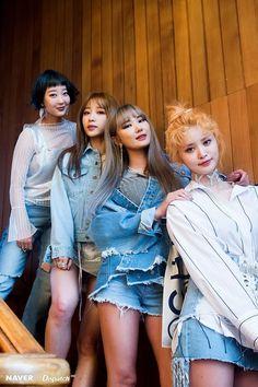 Hyerin, Hani, LE, and Junghwa