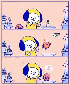 Chimmy & Shooky Shooky has full attention to all his maknae