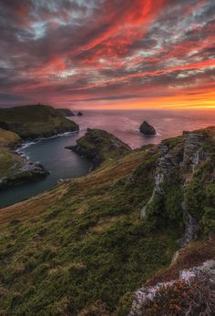 "Red Cornwall - After the 8 minutes exposure madness, I've tried another composition to get a different shot of the sunset in Boscastle. I'm not a big fun of short exposures, but the sunset was really amazing and deserved to be captured in every way possible.   <p><a href=""https://www.facebook.com/pages/Alessio-Putzu-Landscape-Photography/370017963192263"">ALESSIO PUTZU LANDSCAPE PHOTOGRAPHY ON FACEBOOK</a></p>"