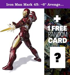 """Iron Man Mark 45: ~6"""" Avengers - Age of Ultron x Tamashii Nations S.H. Figuarts Action Figure Series + 1 FREE Official Marvel Trading Card Bundle. The wait is over. If you enjoy the Avengers: Age of Ultron movie and want more Marvel super action, look no further. Bandai is introducing a series of S.H. Figuarts action figures for the Marvel Avengers movie. S.H. stands for """"Simple Style & Heroic Action"""", and the S.H. Figuarts line is known for its details and high poseability. The Iron Man..."""
