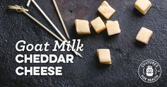 Goat Milk Cheddar Cheese Recipe The wide ranging as well prevails for advertising dairy to Goat Milk Cheddar Cheese Recipe, Goat Milk Recipes, Cheddar Cheese Recipes, Milk And Cheese, Paleo Recipes, Feeding Goats, How To Make Cheese, Milk Products, Farming Life