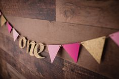 One Pink Glitter Garland {COLOURS CUSTOMIZABLE} - First Birthday, Princess Party, Highchair Banner, First Birthday Party by CutPartySupplies on Etsy First Birthday Parties, First Birthdays, High Chair Banner, Pink Glitter, Princess Party, Twine, Card Stock, Paper Garlands, Colours