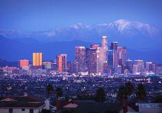 Los Angeles// those mountains. BEST OF BOTH WORLDS.
