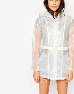 Shop Glamorous Festival Rain Mac at ASOS. Raincoats For Women, Jackets For Women, Festival Rain Mac, Transparent Raincoat, Asos, Rain Wear, Fashion Online, Cool Outfits, Plastic