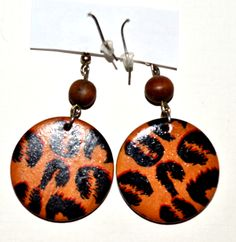Tiger Prints Earrings Dangle and Drop Casual Women Jewelries Unique Gift Vintage #ER1 45 by eventsmatters on Etsy