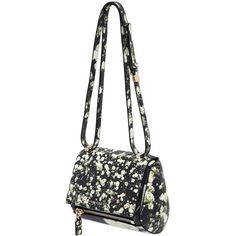GIVENCHY Mini Pandora Box Floral Leather Bag ($2,250) ❤ liked on Polyvore