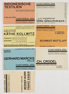 Walter Dexel - 11 Postkarten Kunstverein Jena