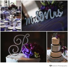 Silver and purple wedding colors with lots of glitz! - Villa Parker Wedding   www.kokorophotography.com