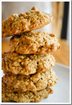 peanut butter oatmeal cookies (no milk, butter, or flour). I made these yesterday and  we loved them. I will definitely make them again. A great peanut butter cookie!