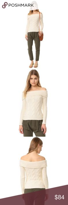 """Free People Off The Shoulder Sweater d e s c r i p t i o n  'Tis the season! Get in the spirit with this gorgeous sweater. Twisted cables lend classic detail to this beautiful off the shoulder Free People sweater. Ribbed edges and long sleeves. Incredibly soft! NO TRADES.  c o n t e n t  99% cotton  