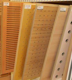 Paneles Acústicos acabados en Melamina modelos en madera