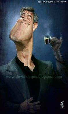 Caricatura de George Clooney. (Caricature) http://dunway.us