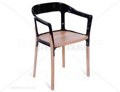 Madox Steelwood Chair Replica - Black $179
