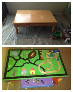 Child toddler activity car train table