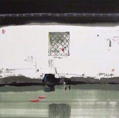 """江南美,美就美在江南的水。 """"盈盈碧水相环,楼阁隔河相望""""的水彩墨画,令人赞叹不已;波光粼粼的水巷,小船轻摇,绿影婆娑,又让返朴归真的游人情不自禁地诗意大发。汪钰元作品"""