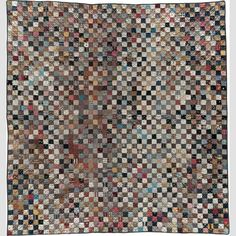 """Charm Quilt Artist unidentified Location: United States Date: 1880–1920 Materials: Cotton Dimensions: 80 × 75 1/2"""""""