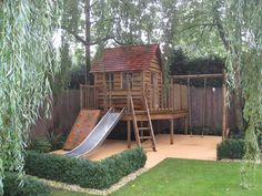 Childrens bespoke playhouse - would be worth getting rid of the shed and loosing so much space for this.