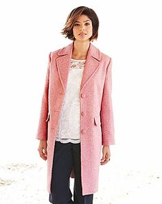 Nightingales Boucle Coat | Crazy Clearance