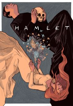 This picture is very powerful because it is Ophelia and Hamlet dead together. Hamlet with the skull, and Ophelia with the flowers, shows their passions but at the same time is very sweet because the two lovers are still together even after death.