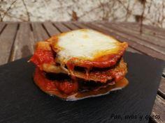 Berenjenas a la parmesana en Crock-Pot - Pan, uvas y queso Mozzarella, Hamburger, Ethnic Recipes, Food, Eggplants, Cook, Eggplant Parmesan, Basil, Eten