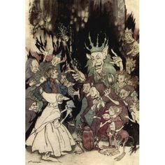 Arthur Rackham was an illustrator in the late and early century. Explore our selection of books illustrated by Arthur Rackham. Arthur Rackham, Kensington Gardens, Kobold, Ecole Art, Drawing Tutorials, Dark Fantasy, Dream Fantasy, Fantasy Forest, Fantasy Dragon