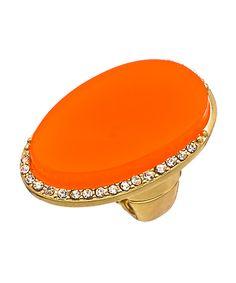 orange statement ring, tangerine ring, large orange statement ring www.morganetoile.com