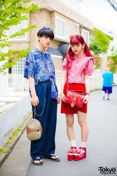 Cute Harajuku Couple Street Style w/ Vannie Tokyo, Candy Stripper & Vivienne Westwood